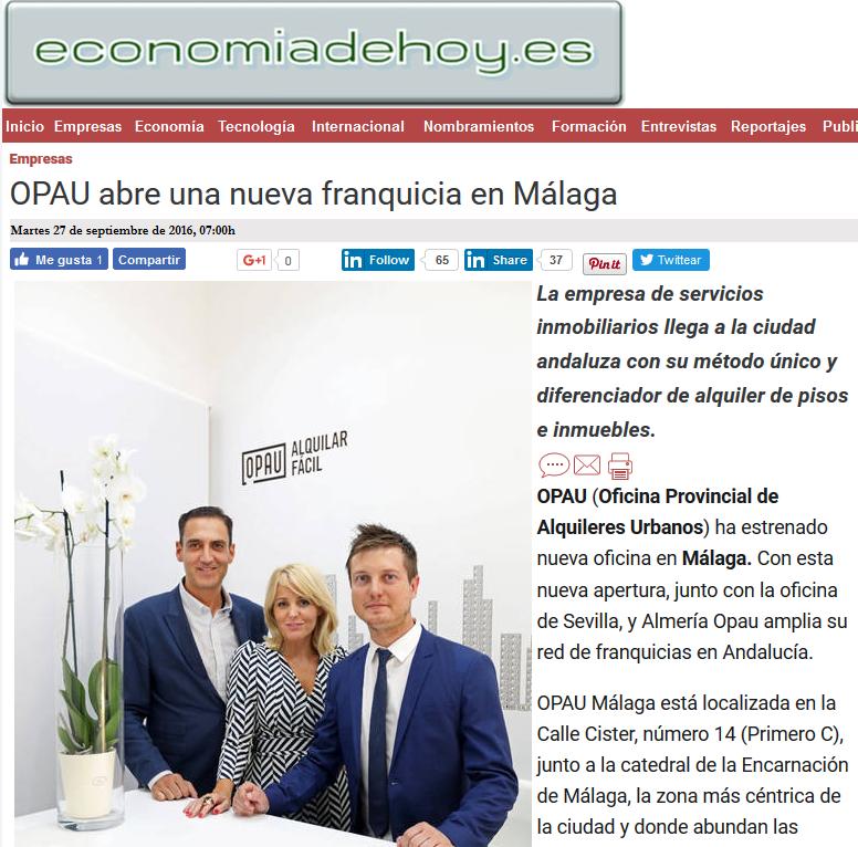 OPAU abre una nueva franquicia en Málaga
