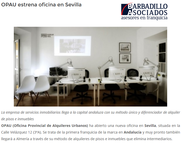 OPAU estrena oficina en Sevilla
