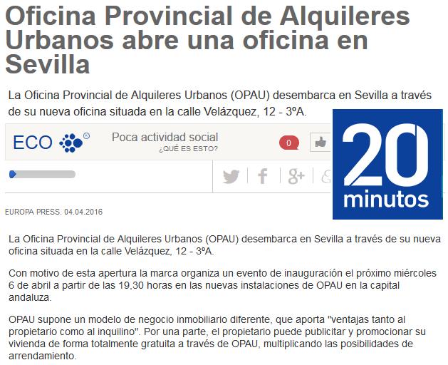 Oficina Provincial de Alquileres Urbanos abre una oficina en Sevilla