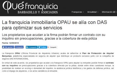 La franquicia inmobiliaria OPAU se alía con DAS para optimizar sus servicios