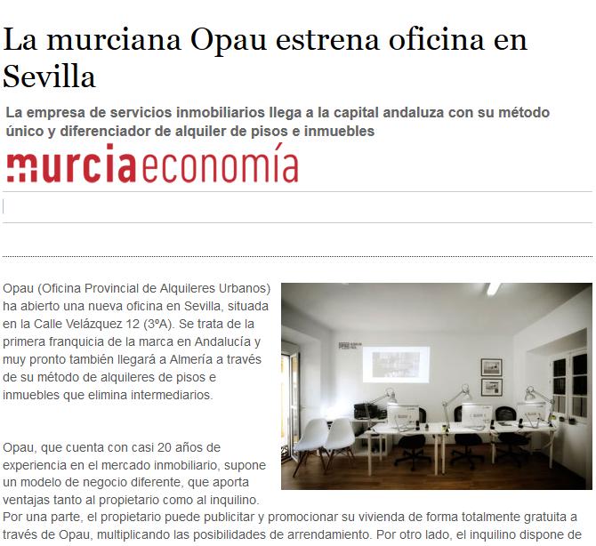 La murciana Opau estrena oficina en Sevilla