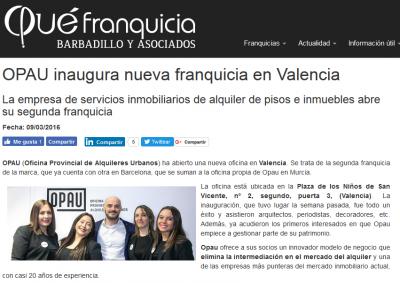 OPAU inaugura nueva franquicia en Valencia