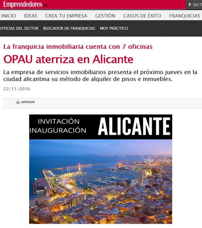 OPAU aterriza en Alicante
