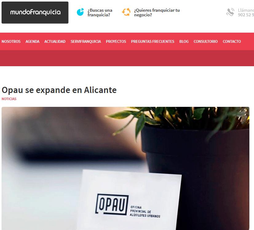 Opau se expande en Alicante